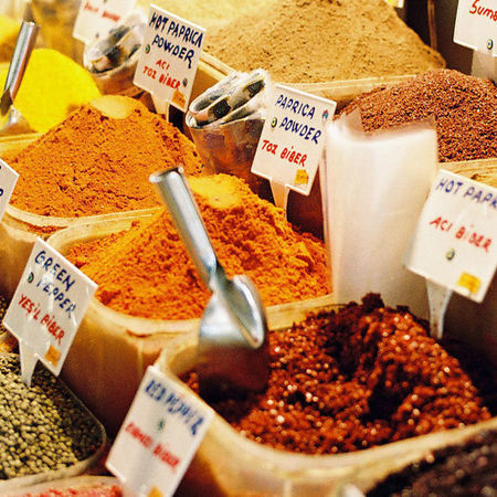 Card spice market in istanbul