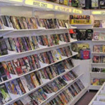 Card comic book store